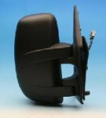 Renault Master Van [03-06] Complete Electric Adjust Mirror Unit - Black - Short Arm